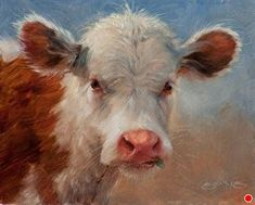 Cupcake by William Suys, Oil, 8 x 10 Cow Photos, Cow Pictures, Cow Drawing, Bull Cow, Painting Competition, Cow Painting, Cow Art, Guache, Wildlife Art