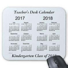 2017-2018 School Year Calendar by Janz Mousepad