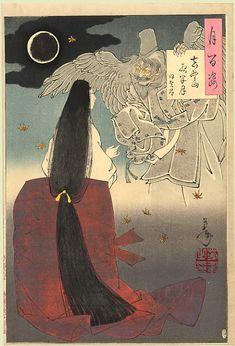 Yoshitoshi Mount Yoshino Midnight Moon - Tengu - Wikipedia, the free encyclopedia