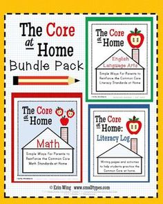 An easy way to explain the Common Core ELA and Math standards to parents.Great for Curriculum Night or conferences! Includes two parent guides, a literacy log, a math log and letters to parents. $13