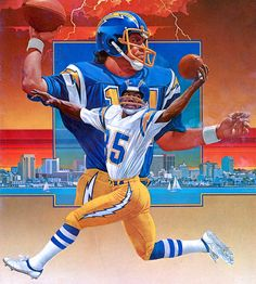 Chargers cover illustration for Pro! Magazine by Chuck Ren