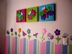 decoracion de cuartos para bebes - Buscar con Google Diy And Crafts, Crafts For Kids, Arts And Crafts, Ideas Hogar, Woodworking For Kids, Diy Recycle, Kids Decor, Home Decor, Diy Canvas