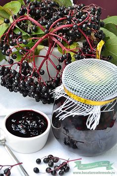 Dulceata din fructe de Soc My Recipes, Cooking Recipes, Favorite Recipes, Elderberry Jam, Canning Pickles, Artisan Food, Romanian Food, Health Snacks, Mousse