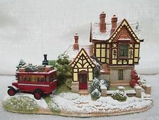 Lilliput Lane Bluebell Line Snow Covered 2004 Illuminated Cottages L2794
