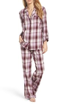 Free shipping and returns on Nordstrom Lingerie Cotton Twill Pajamas at  Nordstrom.com. Temptingly 11107f249