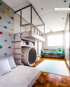 This isn't a regular kids room! It's more like a playground.
