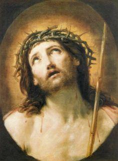 Guido Reni / Cristo coroado de espinhos  (1639-1640) Óleo sobre tela, 62 x 48 cm; Museu do Louvre, Paris.