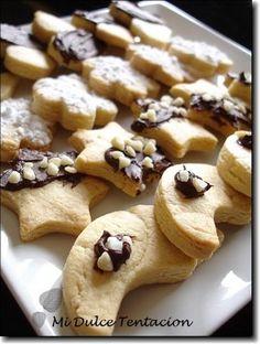 Galletas de Mantequilla Fáciles Sweet Cookies, Cake Cookies, Sugar Cookies, Galletas Cookies, Cookie Recipes, Dessert Recipes, Cooking Cookies, Sweet Bakery, Eat Dessert First