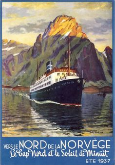 Vintage Cruise Lines Travel Poster: Norway