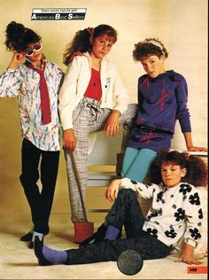 Girls Fashion From A 1987 Catalog Vintage Fashion 1980s