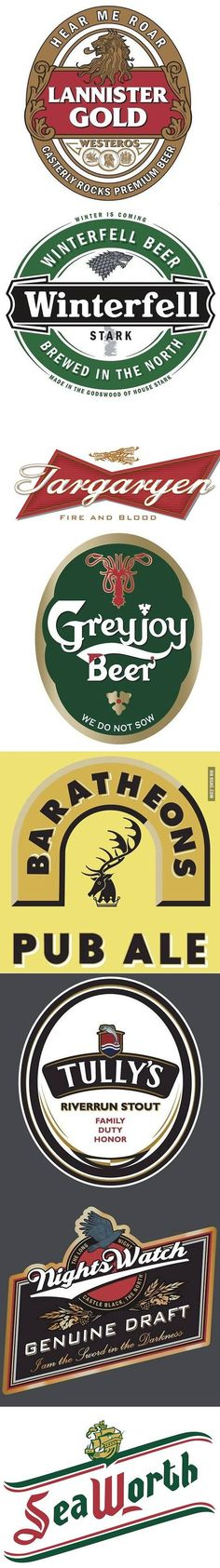 PRINTABLES: Game of Thrones beverage labels..  Medieval Halloween Game of Thrones Gathering Party Theme & Decorating Ideas