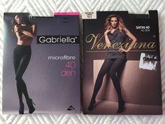 2X GABRIELLA & VENEZIANA Tights  40DEN Size 3-M BNWT Black Nero
