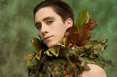 Nicole Dextras 'Lace Leaf Collar' Weedrobes Accessories 2005-10 - magnolia leaves