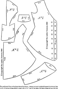 Pattern for a Double-Breasted Polonaise Dress for a Little Girl, October 1874