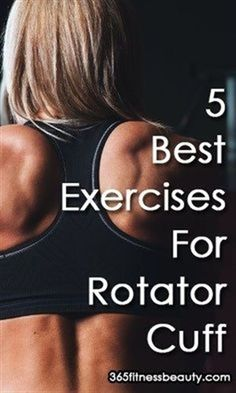 Check out these 5 effective exercises to help strengthen rotator cuff muscles and relieve your shoulder pain: #YogaExercises