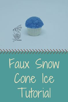 We're back with another tutorial! Learn to make your own faux snow cone ice. Sno Cones, Faux Snow, Arts And Crafts, Diy Crafts, Fimo Clay, Elementary Art, Diy Food, Diys, Treats