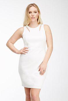 Cutout Scuba Knit Dress   FOREVER21 PLUS - 2000135683