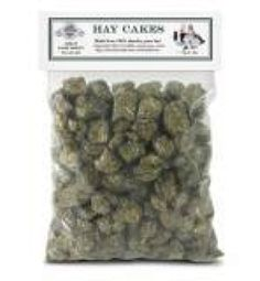 Long-strand fiber is essential for digestive health and function. By giving your pet Hay Cakes, you provide long-strand fiber for rabbits, guinea pigs, prairie dogs, chinchillas and other small herbivores. Provides a compact, nutritious hay source while preserving the flavor and aroma of 100% fresh timothy hay. Compact and easy to feed. Great for travel and for people with allergies by keeping dust and pollen at a manageable level. Great exercise for their teeth.