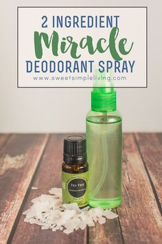 2 ingredient miracle deodorant spray