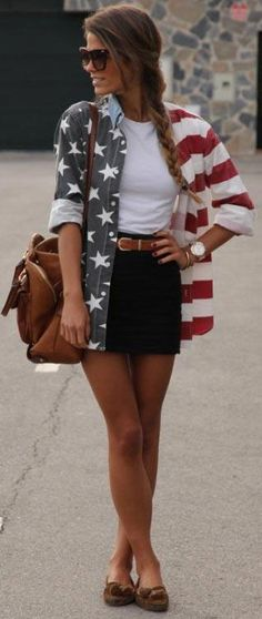 Love this cute casual 4th of July outfit idea.