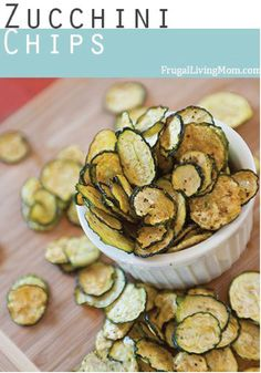 Zucchini Chips – Kids will love munching on these for lunch or as an after-school snack.