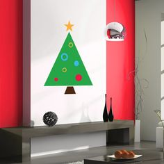 Christmas Tree Wall Decal –Wall Decals –Christmas Decals –Christmas Tree Decal