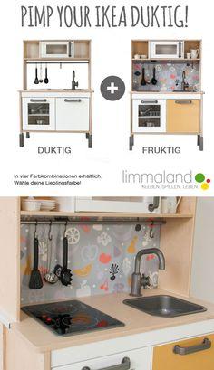 Ikea kinderküche kühlschrank  Ikea Duktig Kitchen Hack, Make-over. Nordic/Dutch Style with LED ...