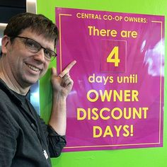 There's just four days left until Owner Discount Days when owners get 10% off on one shop and everyone gets great Daily Deals!  Owners you can stack your discounts and get 15% off pre-orders of cases of the items you use most! But you need to place your order by Wednesday at midnight.  #gocoop #membershiphasitsprivileges #membership #communityowned