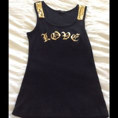 Sequin tank Sequin gold and black tank Tops Tank Tops