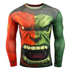 Compression Men's Superman Bodybuilding Long Sleeve 3D T Shirt https://www.bodybuildingtanks.com