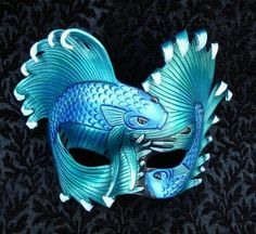 My Mardi Gras Mask.Aequeor Tranquillium Mask by *merimask Masquerade Party, Masquerade Masks, Masquerade Centerpieces, Balloon Centerpieces, Wedding Centerpieces, Ceramic Mask, Halloween, Cool Masks, Leather Mask