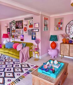 Room Ideas Bedroom, Bedroom Decor, Pastel Room, Aesthetic Room Decor, Colorful Apartment, Dream Rooms, Cool Rooms, House Rooms, Decoration