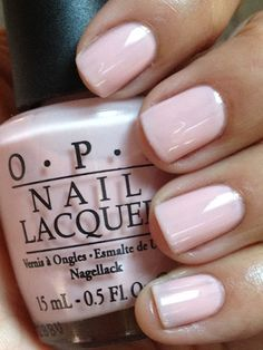 "OPI color...""second honeymoon."" Pastel and soft. Absolutely right for a wedding!"