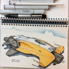 I love drawing fun-shaped spaceships like this or in different shapes and sizes as my hobby Graffiti Pictures, Presentation Techniques, Spaceship Concept, Industrial Design Sketch, Car Design Sketch, Game Character Design, Futuristic Cars, Sketch Inspiration, Communication Design