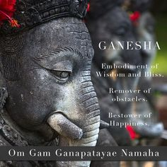 Ganesha Mantra | See more inspiration and yoga tips at www.blooming-lotus-yoga.com