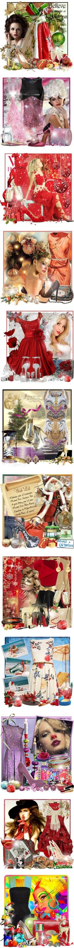 """""""Christmas Past"""" by doozer ❤ liked on Polyvore"""