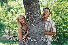 Cute couple shot, photoshop the tree carving in with whatever info needed