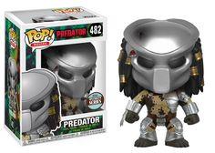 Expand your Predator collection! This Specialty Series figure features the infamous predator wearing his mask. Measuring approximately 3 tall, this Predator Masked Predator Specialty Series Pop! Vinyl Figure comes packaged in a window display box. Funko Pop Toys, Funko Pop Figures, Funko Pop Vinyl, Vinyl Figures, Action Figures, Predator Funko Pop, Predator Mask, Predator Movie, Funko Pop Marvel
