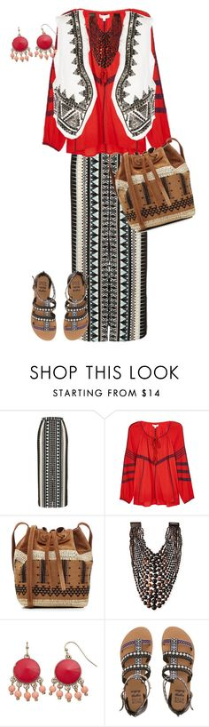 """day of vyshyvanka"" by tenuanet ❤ liked on Polyvore featuring River Island, Intropia, Vanessa Bruno, Viktoria Hayman, Billabong and Pierre Balmain"