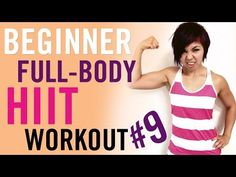 Beginner Bodyweight HIIT Workout #9 - YouTube