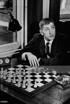 American chess champion and prodigy the controversial and tempermental Bobby Fischer at the Marshall Chess Club in New York, August 25, 1965.