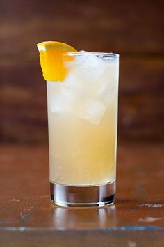 The classic gin & tonic gets a seasonal twist from a splash of pear and allspice liqueurs.