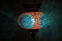 Lamp Mosaic Lamp Handmade Lamp Hanging by Tribalarthome on Etsy