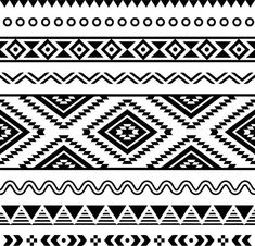 Illustration of Tribal seamless pattern, aztec black and white background vector art, clipart and stock vectors. Ethnic Patterns, White Patterns, Geometric Patterns, Aztec Tribal Patterns, Tribal Print Pattern, African Patterns, Tribal Art, Tribal Prints, Clipart