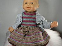 Puppenkleid und Jacke für 36 cm BabyChou chou