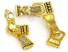 Gold Rhinestone Fold Over Magnetic Clasps by MobileBoutiqueshop