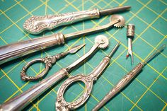 Learn more about Kenneth's collections, notions, and sewing machines.