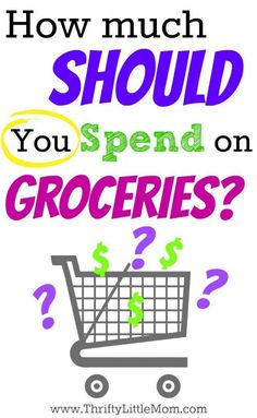 How much should you spend on groceries?  This post if full of tips to help you figure it out and not feel guilty about it.