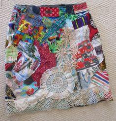 My Bonny Fabric Collage Clothing Wearble Folk Art