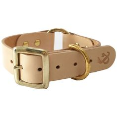 <p>These classic leather dog collars from FETCH & FOLLOW are finely crafted using high quality durable Italian leather and 100% handmade in the UK.</p>    <p>Finished with strong brass hardware and embossed logo, these heavy duty dog collars are perfect for the sophisticated pup about town or the rough and ready country hound.</p>